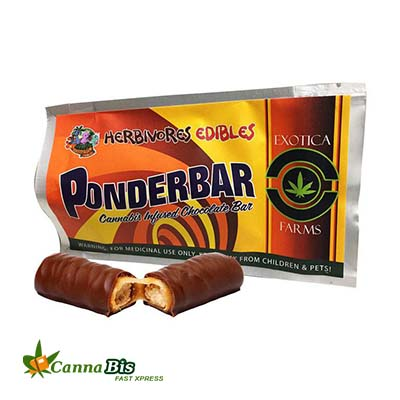 Edible cannabis ponderbar chocolate bar