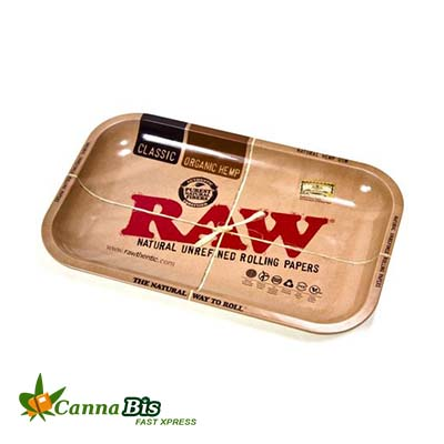 Raw rolling tray for rolling paper