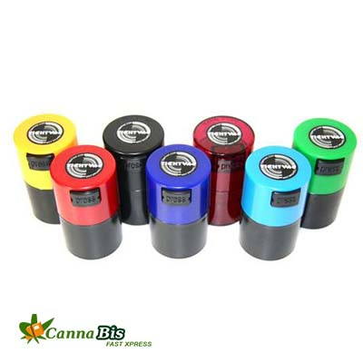 Marijuana tightvac storage container
